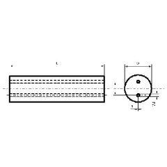 雙直孔碳化鎢圓棒